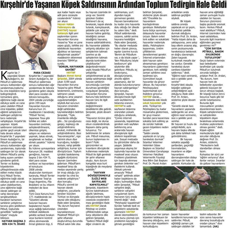 Köpek Saldırıları ile İlgili olarak Haytap'ın Açıklamaları