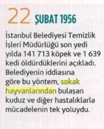 22 Şubat 1956 - İstanbul Belediyesi 140 bin Köpeğin İtlafını Kabulü