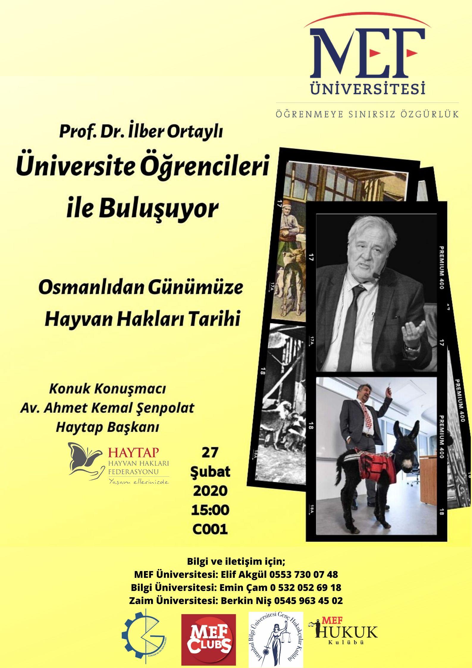 İlber Ortaylı ve Ahmet Kemal Şenpolat ile Osmanlı'dan Günümüze Hayvan Hakları Tarihi Konferansı