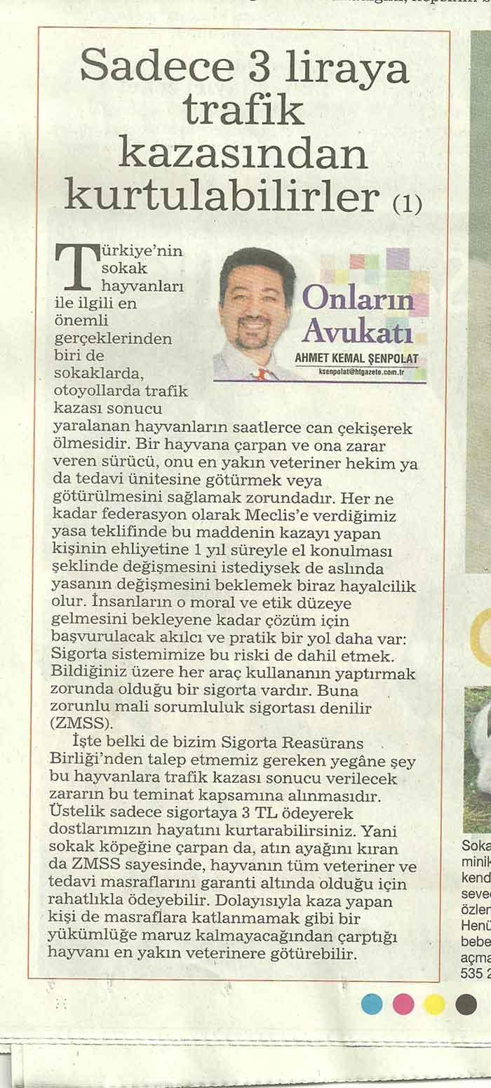 Trafik Kazasından Kurtulma Şansları  Sadece 3 Lira..