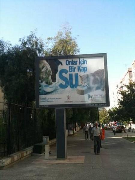İzmir Konak'da 30 Farklı Yerde ''Bir Kap Su'' Kampanyamız Bilboard'larda
