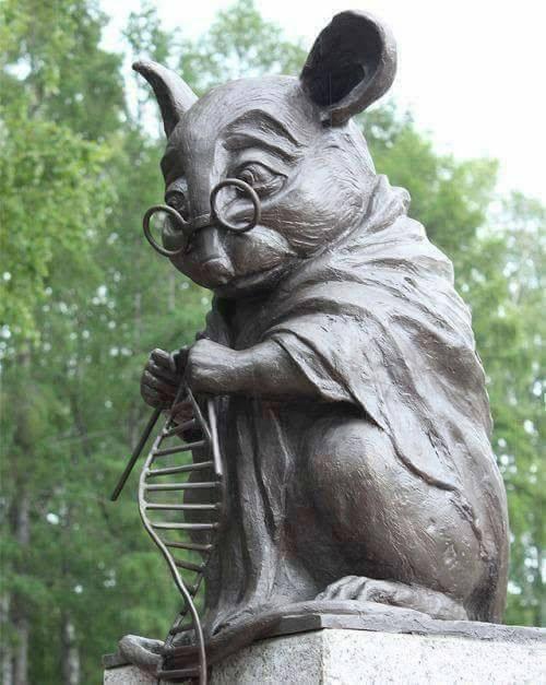 Rus Bilimler Akademisi kampüsünde dikili anıt