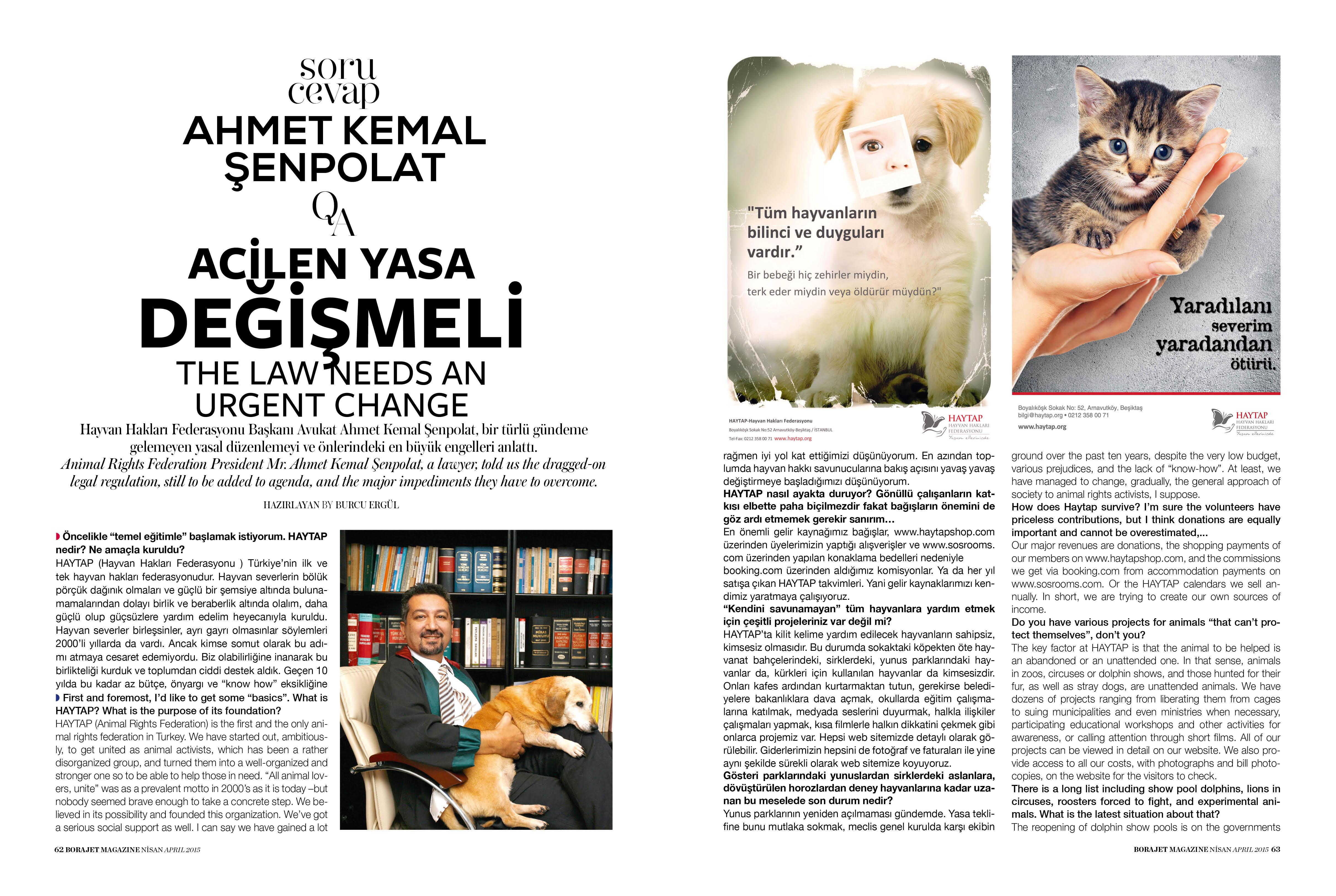 BORAJET dergisi röportajımız