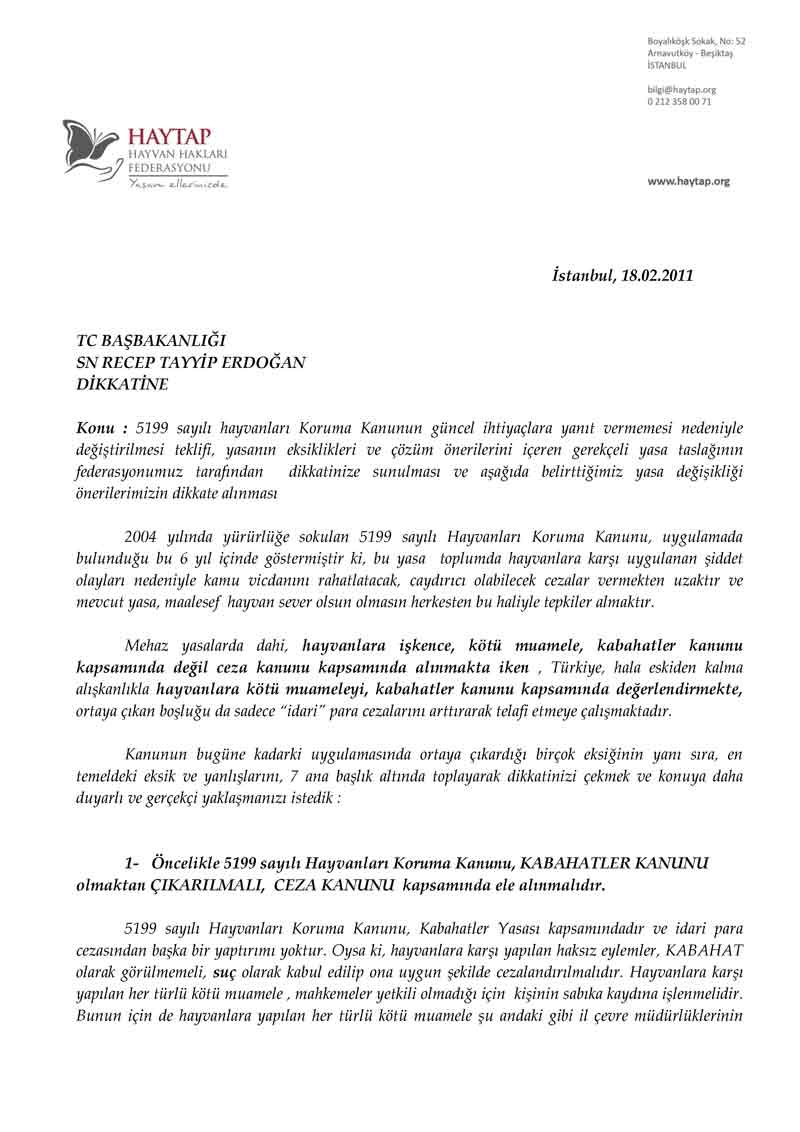 (*) Ankara'nın Önüne Getirilmiş En Masum Talep !