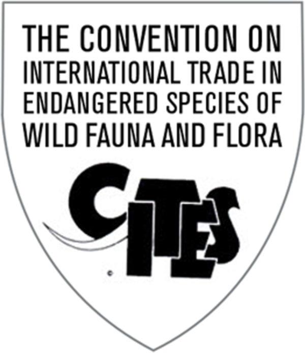 (*) Uluslararası CİTES ''Vahşi Hayvanların Korunmasına Yönelik Uluslararası Anlaşma