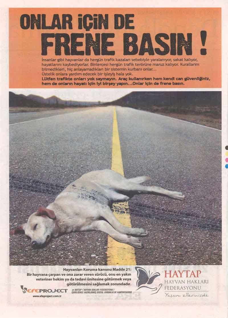 ''Onlar İçin de Frene Basın'' Dünya Gazetesinde