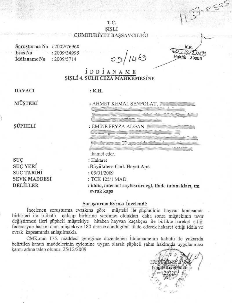 Hayvansever (!) Feyza Algan Ceza Mahkemesinde Mahkum Oldu !