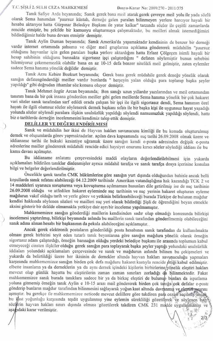 Haykod Başkan yrd Gamze Erkök Neer Hakaretten Mahkum Oldu.