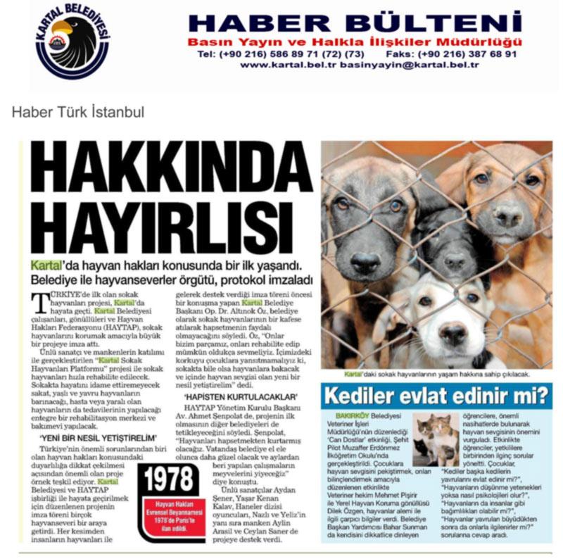(*) HAYTAP ve Kartal Belediyesi Türkiye'de Bir İlke İmza Atıyor