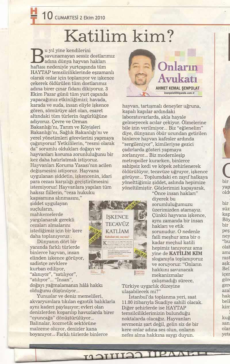 Onların Avukatı, Katilim Kim? Habertürk Gazetesi