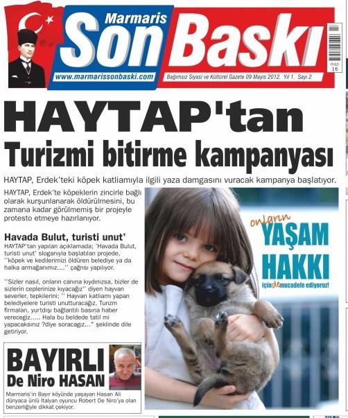 Haytap'tan Turizmi Bitirme Kampanyası !