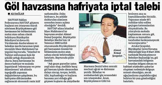 Haytap'tan Büyükşehir Belediyesine Dava !