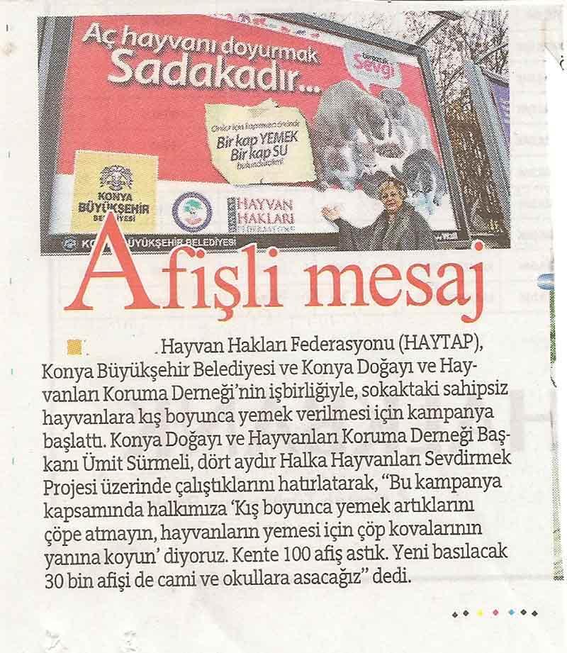 Konya'da 100 Farklı Noktada Haytap Afişleri