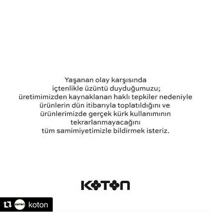 Koton Firması Haytap'ın Yayınları Üzerine Geri Adım Attı !