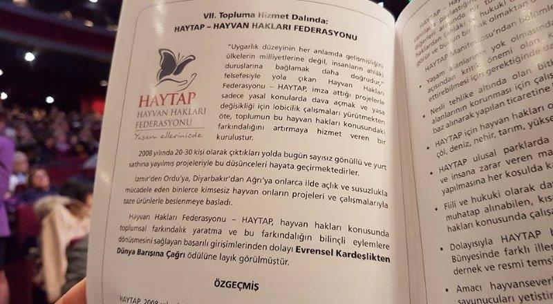 Toplumsal Alanda En İyi Hizmet Veren STK Ödülü  Haytap'a !