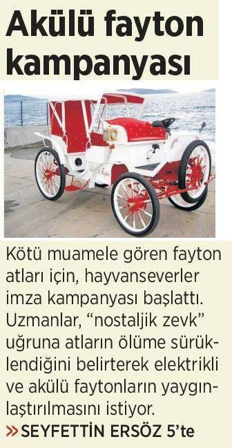 Atları Nostaljiye Kurban Etmeyelim - Milliyet Gazetesi